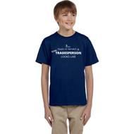 SON Gildan Youth ultra-Cotton T Shirt - Navy (SON-337-NY)