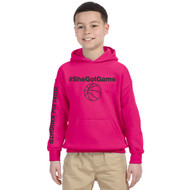 GKC Gildan Youth Heavy Blend Hood - Heliconia Pink (GKC-303-PK)