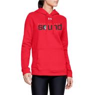 Harbourtown Sound Under Armour Women's Hustle Fleece Hoodie - Red (HTS-201-RE)