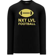 NLF Apparel Men's Long Sleeve Shirts - Black (NLF-106-BK)