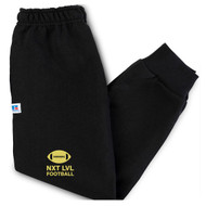 NLF Russell Youth Dri-Power Fleece Joggers - Black (NLF-314-BK)