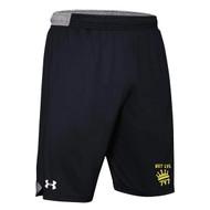 "NLF Under Armour Men's Locker 9"" Shorts (Design 02) - Black (NLF-115-BK)"