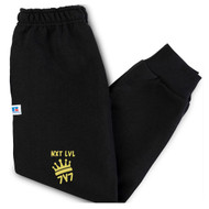 NLF Russell Youth Dri-Power Fleece Joggers (Design 02) - Black (NLF-316-BK)