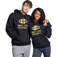 NLF Russell Adult Dri-Power Fleece Hoodie - Black (NLF-017-BK)