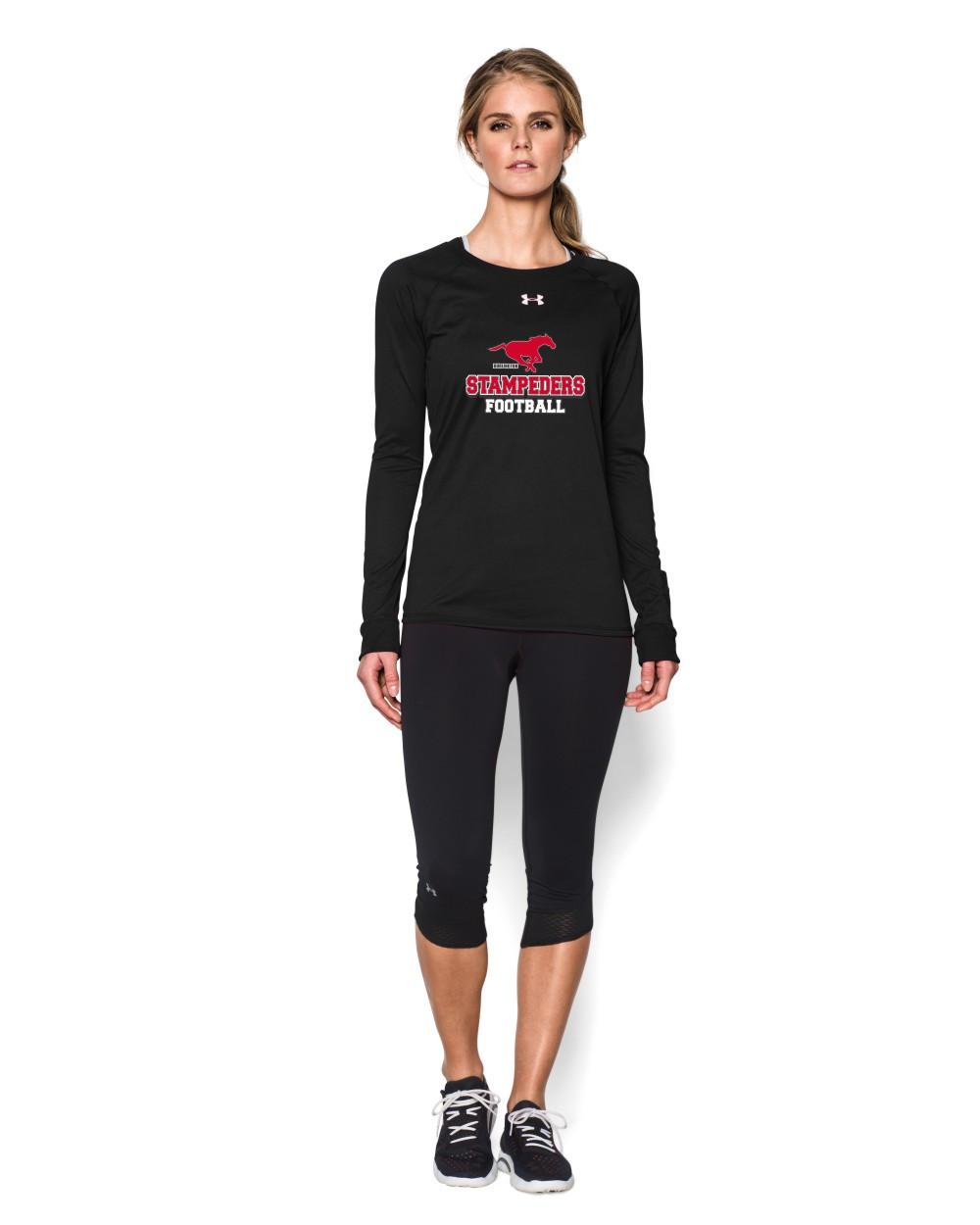 76dbc1f5ef91 BMFA Under Armour Women s Long Sleeves Locker T-Shirt - Black ...