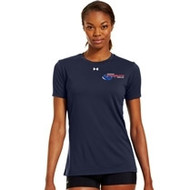 Newmarket Stingrays Under Armour Game Short Sleeve Locker Tee - Navy/White