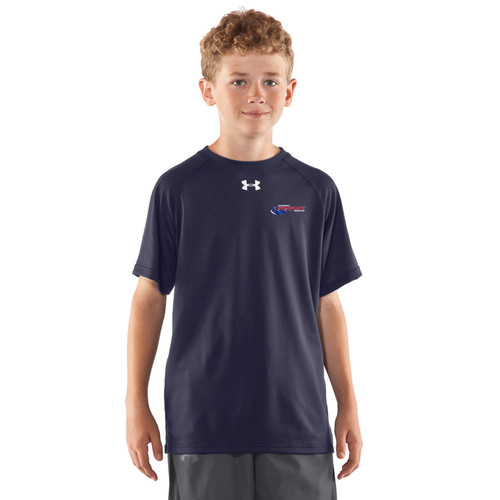 Newmarket Stingrays Under Armour Game Short Sleeve Locker Tee - Navy/White - Youth (NSW-047-NY)