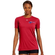 Newmarket Stingrays Under Armour Game Short Sleeve Locker Tee - Red/White - Women's