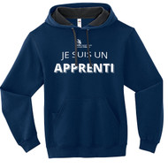 SON Fruit of the Loom Adult SofSpun Hoodie with Apprenti Logo - Masculine - Navy (French Version) (SON-045-NY)