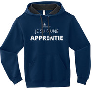SON Fruit of the Loom Adult SofSpun Hoodie with Apprentie Logo - Feminine - Navy (French Version) (SON-047-NY)