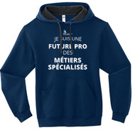"""SON Fruit of the Loom Adult SofSpun Hoodie with Future Pro des MÉTIERS SPÉCIALISÉS"""" - Navy (French Version) (SON-006-NY)"""