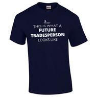 "SON Gildan Adult Ultra Cotton T-Shirt with ""Future Tradeperson"" Logo - Navy (SON-010-NY)"