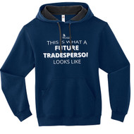 SON Fruit of the Loom Adult SofSpun Hoodie with Future Tradeperson Looks Like Logo - Navy (SON-017-NY)