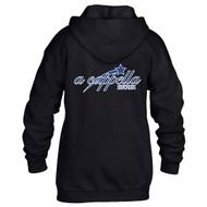 ACP Gildan Youth Heavy Blend 50/50 Full-Zip Hooded Sweatshirt - Black