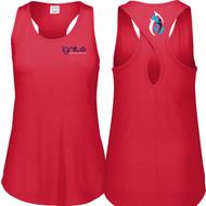 IGN Augusta Sportwear Girls Lux Tri-Blend Tank - Red Heather (IGN-302-RH)
