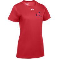 NSW Under Armour Women's Locker T-Shirt - Red (NSW-205-RE)