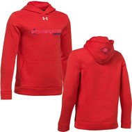 NSW Under Armour Youth Hustle Fleece Hoodie - Red (NSW-306-RE)