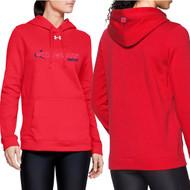 NSW Under Armour Women's Hustle Fleece Hoodie - Red (NSW-206-RE)