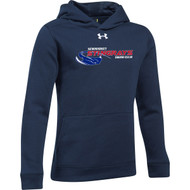 NSW Under Armour Youth Hustle Fleece Hoody - Navy (NSW-032-NY)