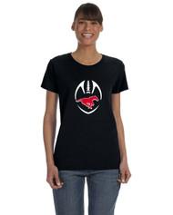 BMFA Gildan Heavy Cotton Ladies Tshirt 8.8OZ - Black