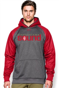 Harbourtown Sound Under Armour Men's Hoody - Red/Carbon (HTS-001-RE)