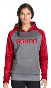 Harbourtown Sound Under Armour Women's Hoody - Red/Carbon (HTS-021-RE)