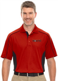 Harbourtown Sound Men's Polo Shirt - Red/Black (HTS-011-RE)