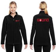 Harbourtown Sound Embroidered Ladies Jacket - Black (HTS-032-BK)