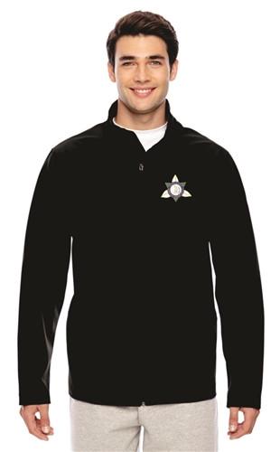Ontario District Embroidered Men's Soft Shell Jacket - Black (ONT-005-BK)