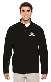 Ontario District Embroidered Men's Soft Shell Jacket - Black (ONT-005-BK)
