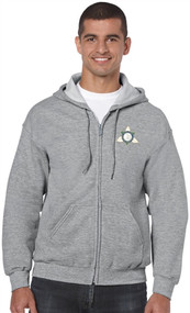 Ontario District - Gildan Adult Full Zip Hoody - Sport Grey