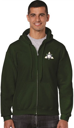 Ontario District - Gildan Adult Full Zip Hoody - Forest (ONT-002-FO)