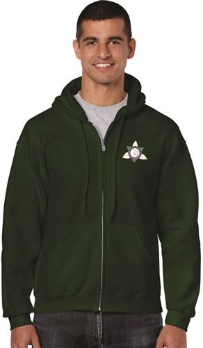 Ontario District - Gildan Adult Full Zip Hoody - Forest (ONT-002-FO)