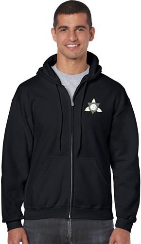 Ontario District - Gildan Adult Full Zip Hoody - Black (ONT-002-BK)