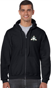 Ontario District - Gildan Adult Full Zip Hoody - Black (ONT-002-BK)