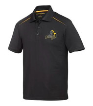 CMFA Coal Harbour Contrast Inset Sport Men's Shirt Snag Resistant - Black/Gold