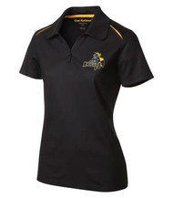 CMFA Coal Harbour Contrast Inset Sport Ladies Shirt Snag Resistant - Black/Gold