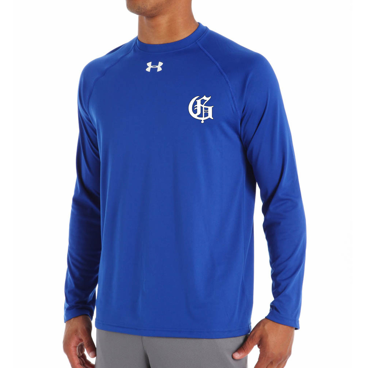 563ac6244 GMB Under Armour Men's Long Sleeve Locker T - Royal | YouWear.ca