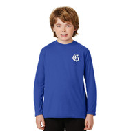 GMB Gildan Youth Long Sleeve Performance Tee - Royal