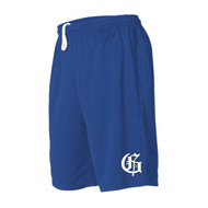 "GMB Athletic Knit Men's Dryflex 9"" Short W/Pockets - Royal"