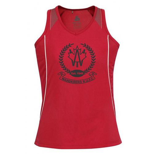 AJX Razor Women's Singlet - Red/White(AJX-032-RE)