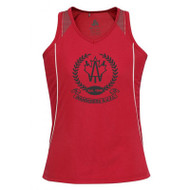 AJX Razor Women's Singlet - Red/White
