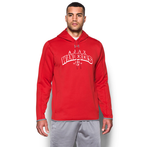 AJX Under Armour Men's Double Threat Fleece Hoody - Red (AJX-003-RE)
