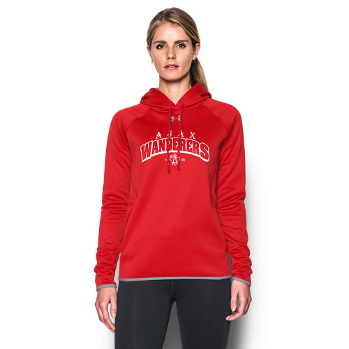 AJX Under Armour Women's Double Threat Fleece Hoody - Red (AJX-023-RE)