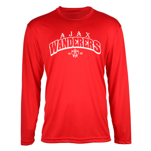 AJX ATC™ Men's Pro Team Long Sleeve Tee - Red/White