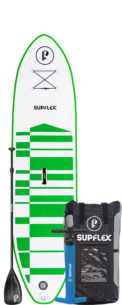 Top Quality 10ft Green Inflatable Paddle Board Package by Supflex Boards 9b375cc75410