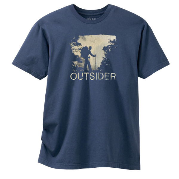 Men's Crew Hiking Organic Shirt - Outsider Navy