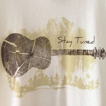 Women's Classic Scoop Music Tee - Stay Tuned Wheat