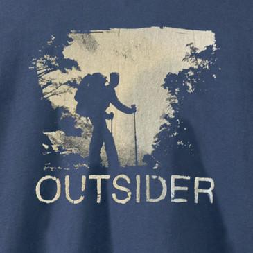 Men's Organic Hiking Long Sleeve T-Shirt - Outsider Navy