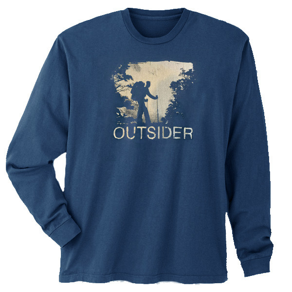 Men's Organic Hiking Long Sleeve T-Shirt - Outsider Navy